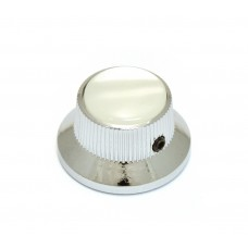 K-MBWP-C (1) Chrome/White Pearloid Bell Knob
