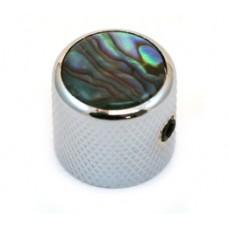 K-MDAB-C (1) Chrome/Abalone Metal Dome Knobs