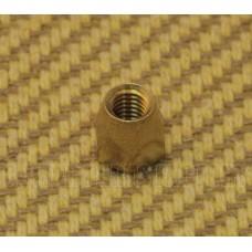 LT-0660-008 (1)  Brass Truss Rod Nut For Gibson Guitar (10-32)