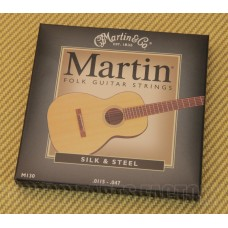M130 Martin Silk & Steel Folk Acoustic Guitar Strings