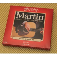 M140 Martin M140 Bronze Acoustic Guitar Strings Light