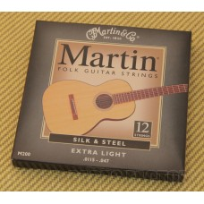M200  Martin Silk & Steel 12 String Folk Guitar Strings Extra Light
