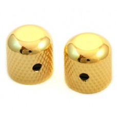 MK-0110-002 (2) Gold Dome Knobs for Solid Shaft Pots