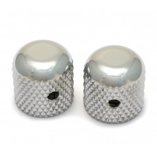 MK-0110-010 (2) Chrome Dome Knobs for Solid Shaft Pots