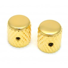MK-0112-002 (2) Gold Heavy Knurled Vintage Style Barrel Knobs