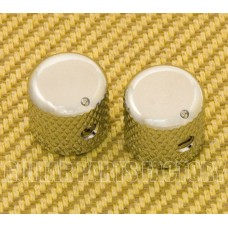 MK-030-CR (2) Chrome Dome Knobs for Solid Shaft Pots