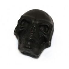 MK-3335-003 Black Satin Split Shaft Press-On Skull Knob