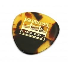 (1) Golden Gate MP-12 Tortoise Thick Mandolin Bass 0r Jazz Guitar Pick Made in Japan