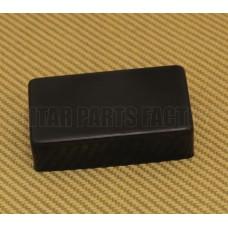 MPCB Black Brass Humbucker Pickup Cover No Pole Piece Holes
