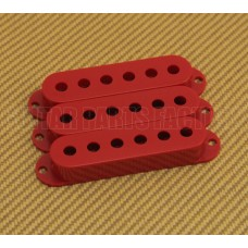 PC-0406-026 (3) Red pickup covers for strat