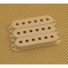 PC-0406-048 (3) Vintage Cream Pickup Covers for Fender Stratocaster/Strat® Guitar