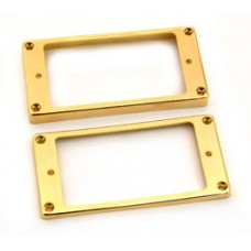 PC-0733-002 Gold plated curved plastic humbucker rings