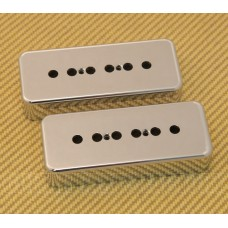 (2) PC-0746-010 50mm Chrome Plastic Soapbar P90 Guitar Pickup Covers