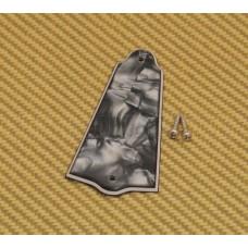 PG-0485-053 Black Pearloid Universal Truss Rod Cover