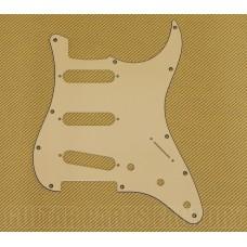 PG-0552-048 Vintage Cream 3-ply 11-hole Pickguard Standard Fender Stratocaster