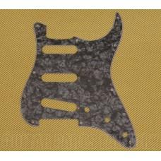 PG-0552-052 Pearloid Dark Black 11-hole Pickguard Fender Stratocaster Guitar