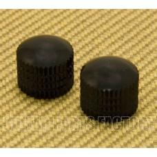 PK-008-BK (2) Black Plastic Push-On Dome Knobs
