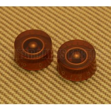 PK-0130-022 (2) Amber Speed Knobs for USA Guitars