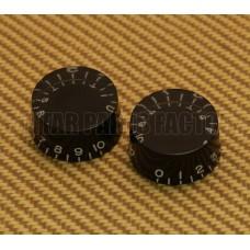 PK-0130-023 (2) Black Speed Knobs for USA Guitar
