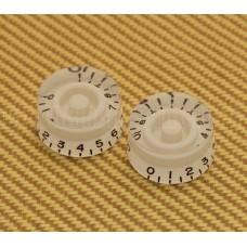 PK-0130-025 White Speed Knob Set