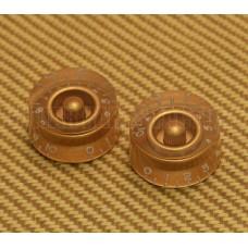 PK-0130-032 (2) Gold Speed Knob Set Guitar/Bass 1-10