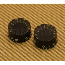 PK-0134-023 (2) Aged Black Speed Knobs USA Guitars