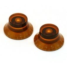 PK-0140-022 (2) Amber Bell Knob Set