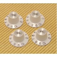 PK-0140-USAW Silver/White Witch Hat Knob Set for USA/CTS