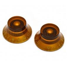 PK-0142-022 (2) Amber 0-11 Bell Knobs