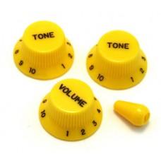 PK-0178-020 Yellow Knob Set for Strat