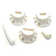 PK-0178-025 White Strat Knob Set