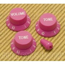 PK-0178-MP Muave Pink Knob Set for Strat® Import/Metric 6mm