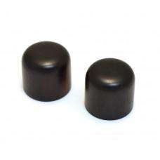 PK-0198-0E0 (2) Ebony Wood Dome Knobs