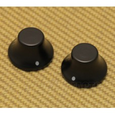 PK-3197-0E0 Set of 2 Ebony Wood Bell Knobs for Guitar or Bass