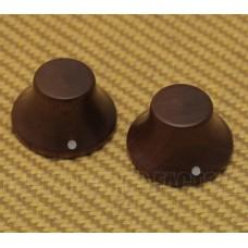 PK-3197-0W0 (2) Walnut  Wood Bell Knobs