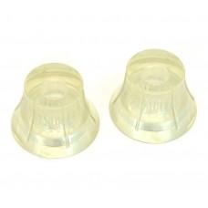 PK-3267-000 Silvertone Clear Knob Set
