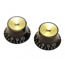 PK-3292-023 Reflector Tone Knobs Black/Gold