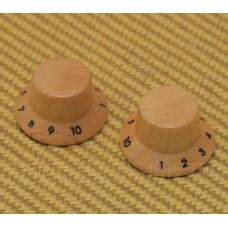 PK-KM102N (2) Maple Wood 1-10 Bell Knobs