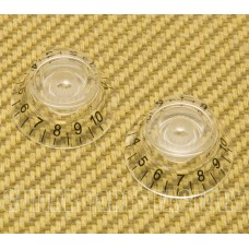 PK-MBI-CLEAR (2) Clear Metric Bell Knobs for Import Guitars