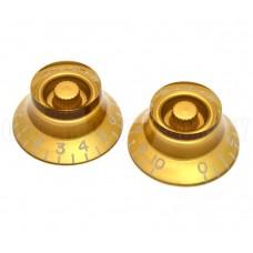 PK-MBI-G (2) Gold Metric Bell Knobs for Import Guitars