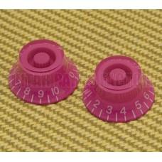 PK-MBI-PINK (2) Pink Metric Bell Knobs for Import Guitars