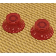 PK-MBI-RED (2) Red Metric Bell Knobs for Import Guitars