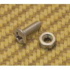 PL3010NK Nickel Pickguard Bracket Screw & Nut