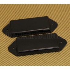 PN-DNH-B Black No-Hole Closed P-90 Dog Ear Guitar Pickup Cover Set