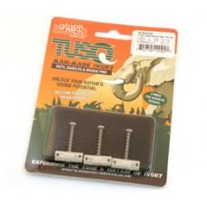 PQ-8163-00 Graph Tech Tusq Vintage 3 barrel Tele Saddles Compensated Retrofit