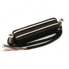 BLACK & CHROME DUAL RAIL PICKUP FOR STRAT