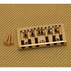 SB-0190-002 Gold Universal Top Load Hardtail Guitar Bridge