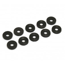 SBW-BR (10) Black Rubber Strap Button Washers Guitar/Bass