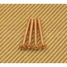 GOLD SHORT NECK SCREWS FOR IMPORT GUITARS