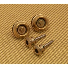 SLS1032BR Dunlop Dual Design Brass Strap Locks Straplocks System For Guitar/Bass